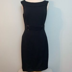 WHBM black classic shape dress